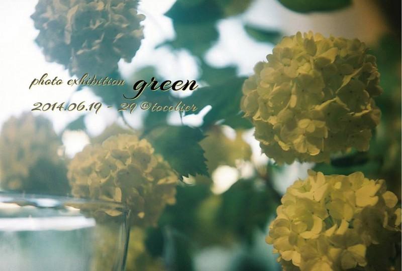 tocolier花写真展「green」